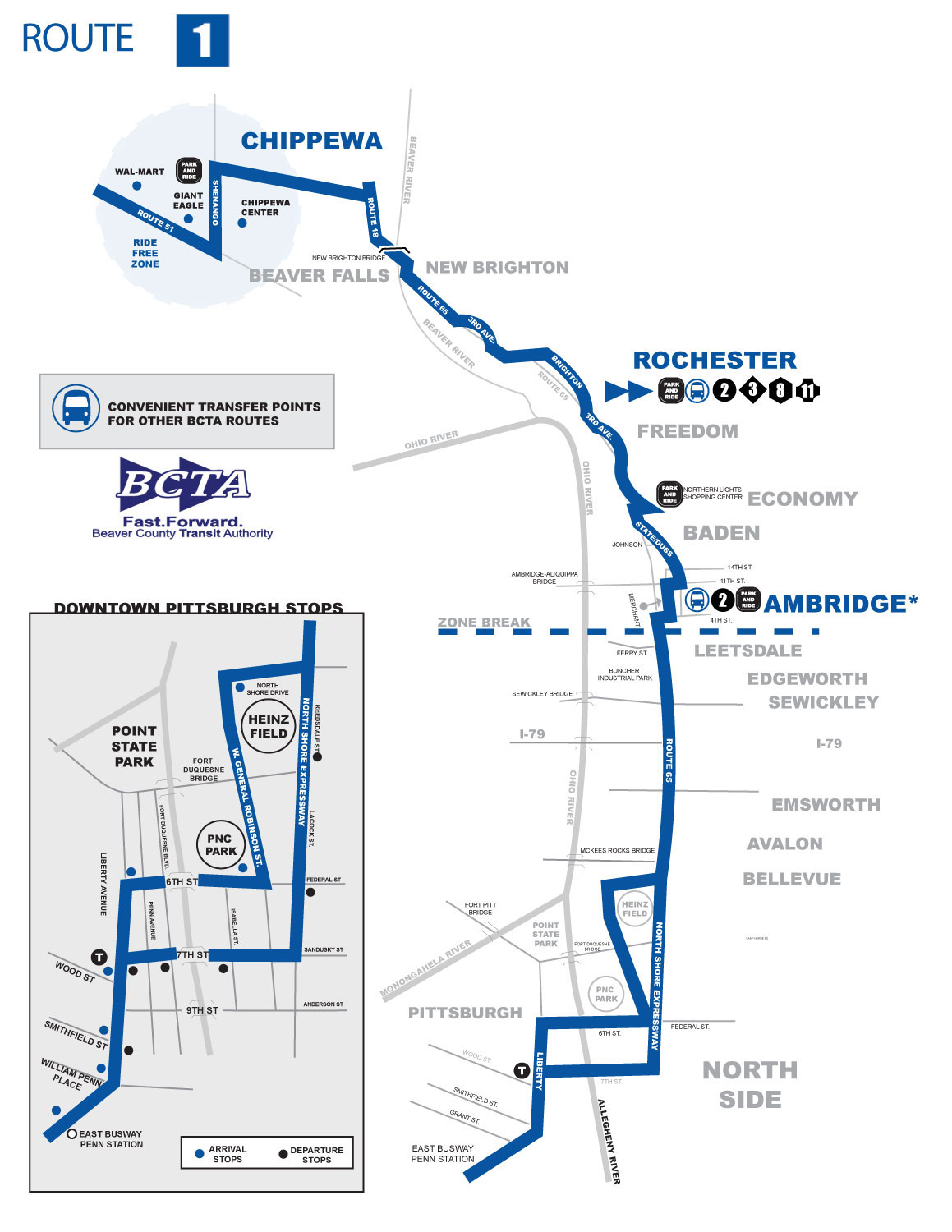 Route 1 Map