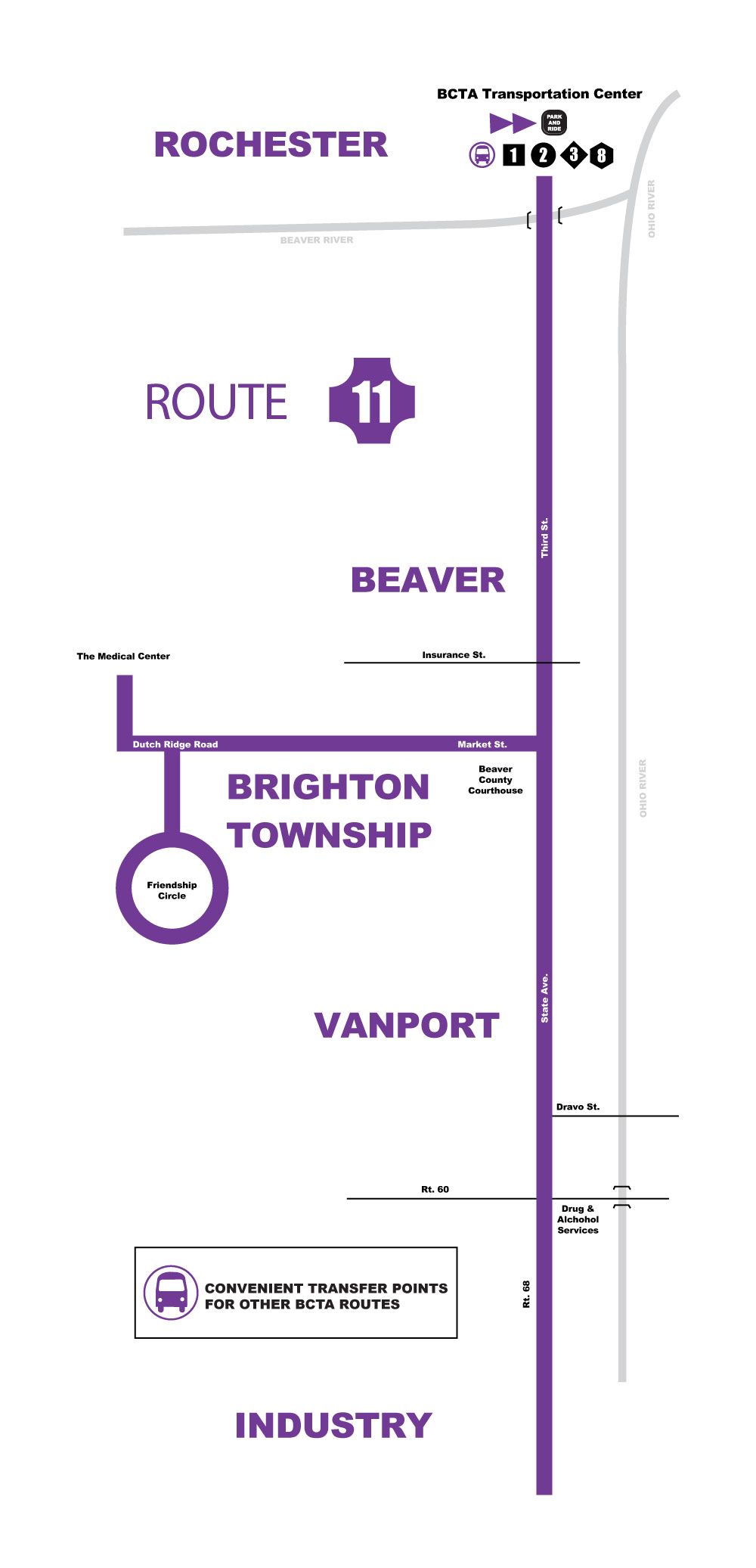 Route 11 Map