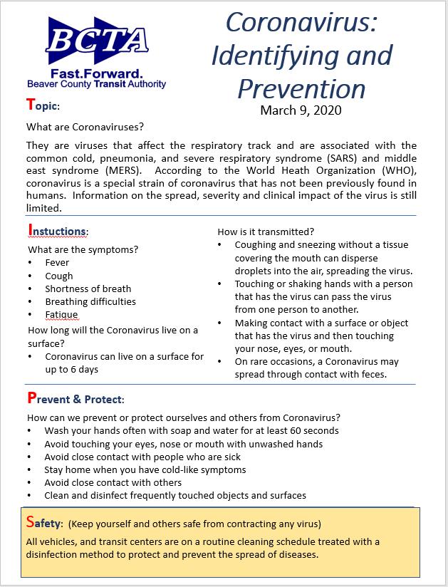 coronavirus identifying and prevention bcta coronavirus identifying and prevention